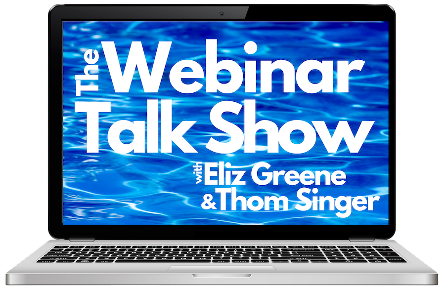 Webinar Talks Show features virtual emcee Eliz Greene and Thom Singer